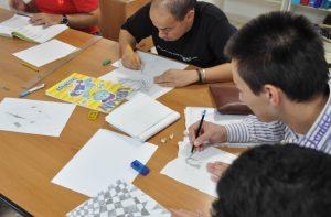 attività del club di socializzazione per disabili